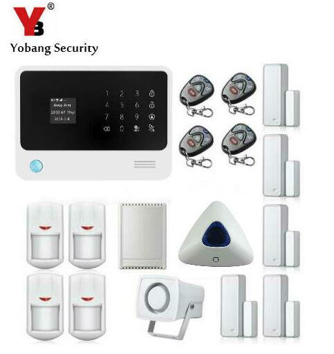 Yobang Security 2.4G WiFi GPRS GSM Alarm IOS & android APP Control Detector Sensor Wireless GSM Security Alarm WIFI Home Alarm yobangsecurity wifi gsm gprs home security alarm system android ios app control door window pir sensor wireless smoke detector