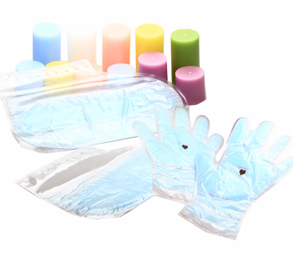 Paraffin Hand Mask 1pc + Foot Mask 1pc Wax Treatment Reusable for 5 Times Whitening Moisturizing Gloves Socks цена 2017