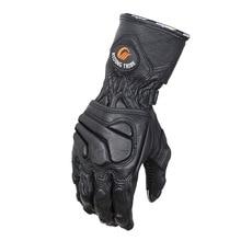 Goatskin зимние мотоциклетные перчатки из натуральной кожи ЗАЩИТА мотоциклист мотогонок полный пальцы перчатки