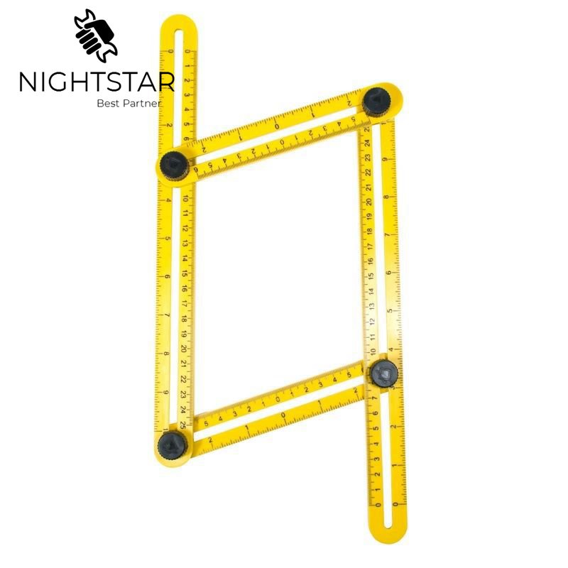 Image 4 - Multi Angle Ruler Template 4 Folding Angle Measuring Tool Instrument Brick Tile Wood Corner Products Foldable Ruler Protractor-in Gauges from Tools