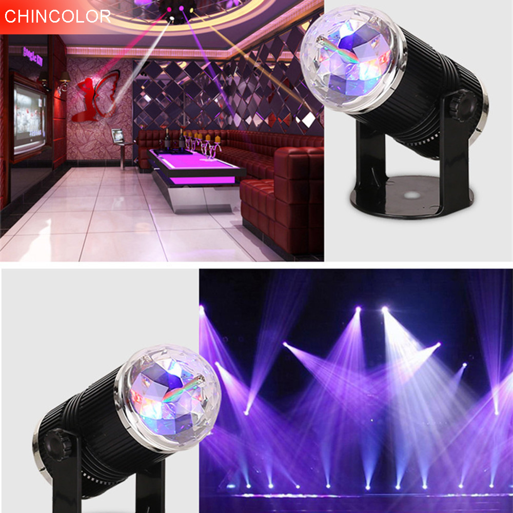 CHINCOLOR Voice control Led stage light  Auto Rotate Multi Color Stage Lighting For KTV Xmas Party Wedding DJ lighting CA|stage light|led stage light|stage led light - title=