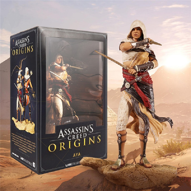 25cm Assassin's Creed Aya Pvc Action Figure Toy Anime Assassin's Creed McFarlan Aya Toys Display Model Toys Birthday Jouet assassins creed origins aya pvc figure collectible model toy 22cm