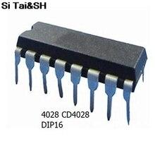 Бесплатная Доставка 20 шт./лот 4028 cd4028 BCD код десятичной декодер DIP-16 новых оригинальных
