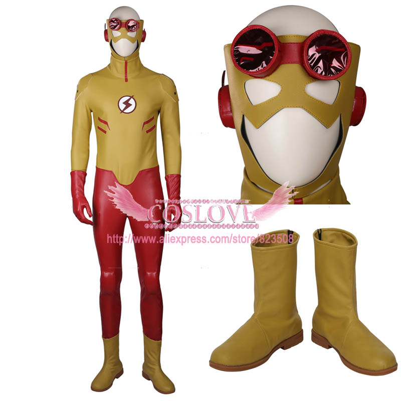DC Young Justice Kid Flash Cosplay Costume Custom Made For Halloween Christmas