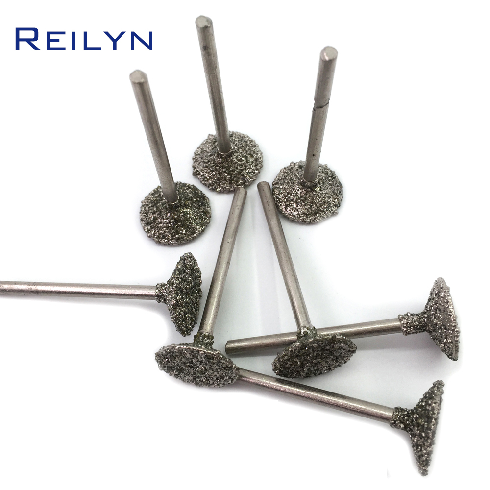 Shank 3mm #46 Coarse Grade Emergy Diamond Abrasive Bits 10mm/16mm Peeling Needle H Type Die Grinder/dremel/rotary Tools