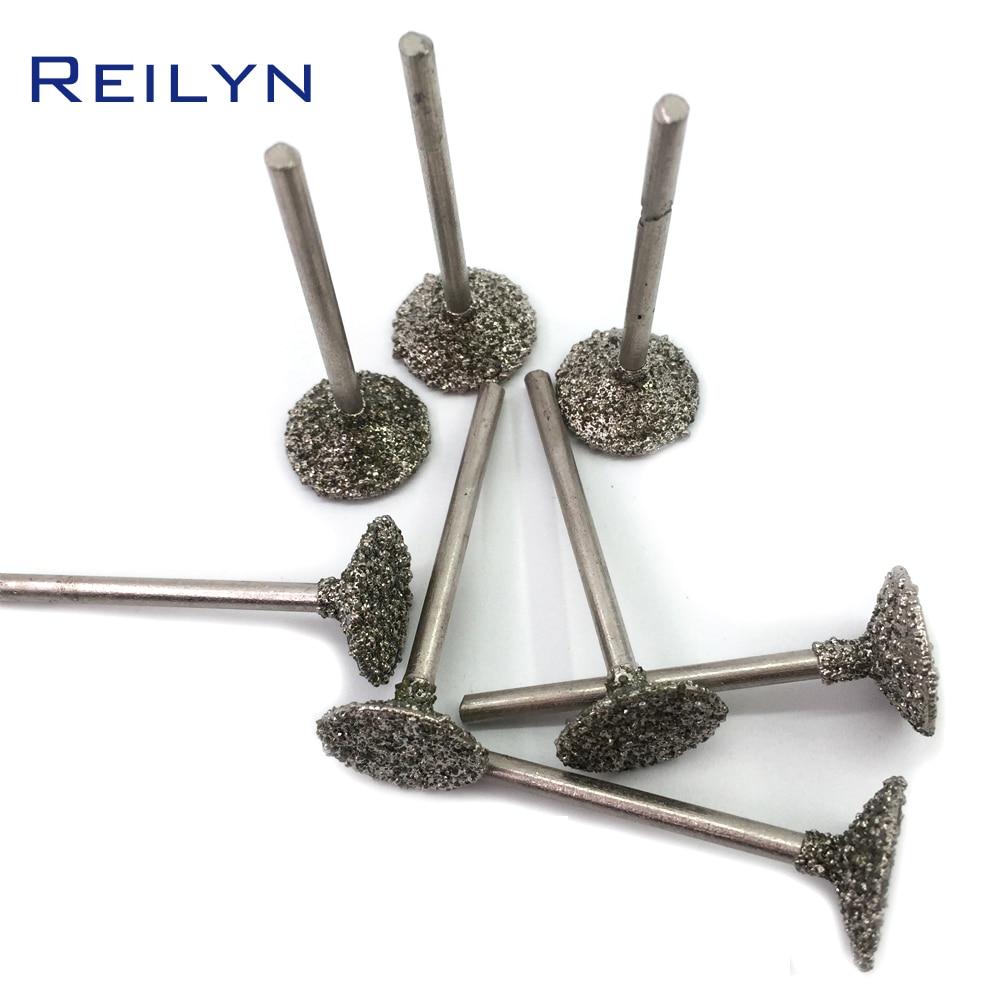 Shank 3mm #46 Coarse Grade Emergy Diamond Abrasive Bits 10mm/16mm Peeling Needle H Type Die Grinder/dremel/rotary Tools