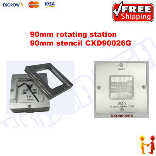Freeshipping. BGA Reballing 90mm * 90mm PS4 Stencil CXD90026G 0.25mm + 90mm reballing station freeshipping 100% new intel 82801hbm ic chipset with bga stencil 90mm nh82801hbm