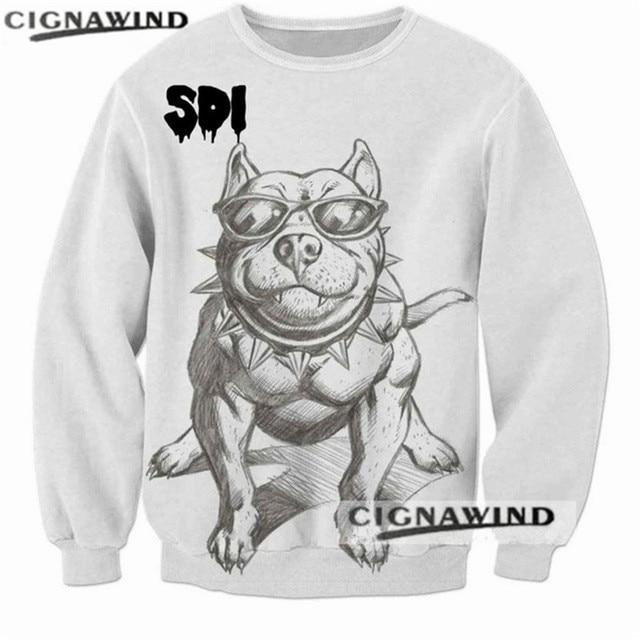new design hoodie men women 3d printed drawings of dogs pitbull to
