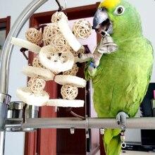 1 pcs Large Medium And Small Parrot Supplies natural Hanging cage rattan ball pure loofah Loofah BirdsToys