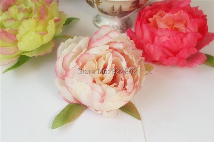 8cm Large Fabric Roses Artificial Silk Peony Flower Head