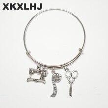 XKXLHJ 2018 New Sewing Machine Bracelet, Seamstress Quilters Bracelet  Silver Dres s Elegant