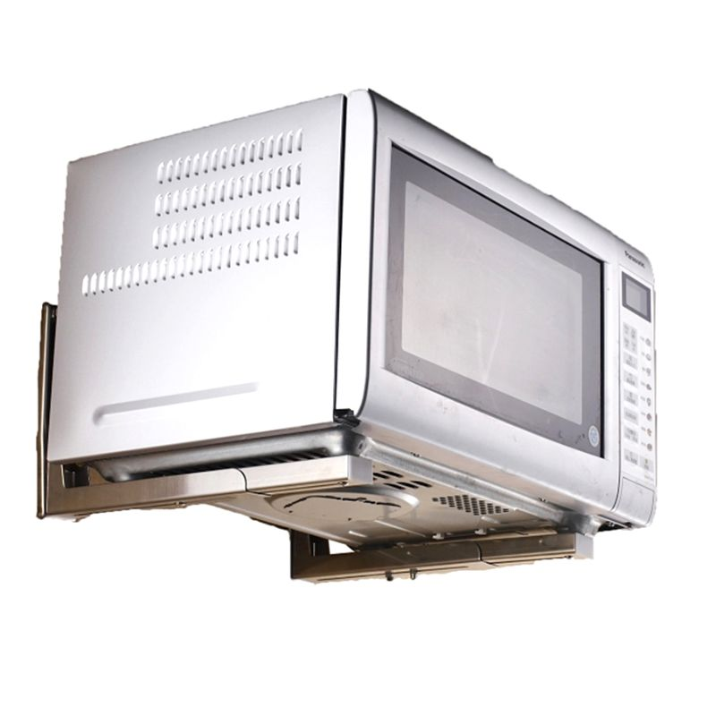 Heavy Duty Folding Shelf Brackets Support Frame Steel Foldable Stretch Shelf Rack Microwave Oven Wall Mount Bracket