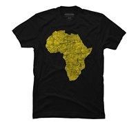 아프리카-풍 골드 남성 T 셔츠