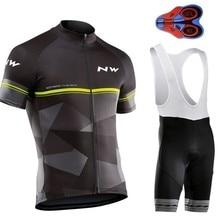 цена на 2019 NEW Northwave MTB Cycling Bib Shorts Men Bike Jersey Sets Ropa Ciclismo NW Cycling Jersey Summer Pro Team Cycling Clothing