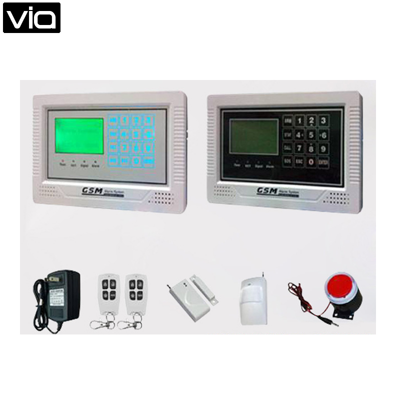 ALF-GSM08 Free shipping Global Use GSM Network Intelligent Alarm System 128X64 LCD Display Touch Screen intelligent automaticly lcd digital display lux meter free shipping