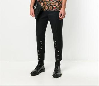S-6XL!!A new Korean version of men's slim-legged pants and the men's fashion pencil pants hair stylist harem pants casual pants.