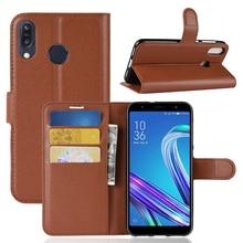 цена на For Zenfone Max Pro M1 ZB602KL Case Premium Leather Wallet Leather Flip Case for ASUS Zenfone Max Pro M1 ZB602KL M2 ZB633 31KL