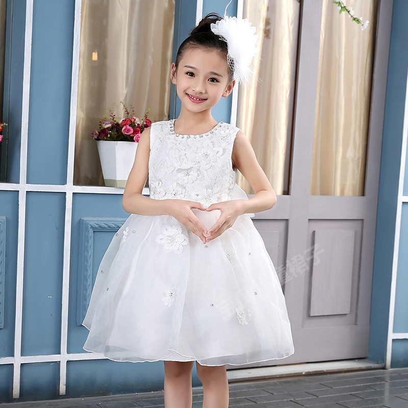 champagne tutu tulle baby bridesmaid flower girl wedding dress fluffy ball gown birthday princess evening prom cloth party dress