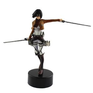 14cm Anime Attack On Titan Mikasa Ackerman Action Figure PVC Figure Collectible Model Toy Doll Gift For Kids(China)