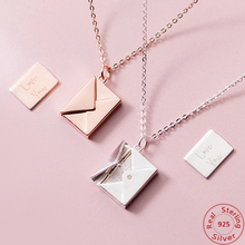 Pendant Necklace 925-Sterling-Silver Envelope-Lover Girlfriend Women for Best-Gifts Genuine