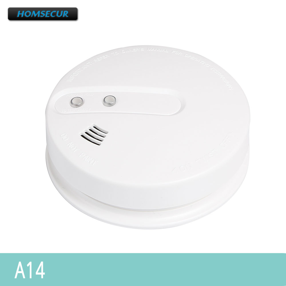 HOMSECUR A14 433MHz Photoelectric Smoke Sensor 85Db For Our Home Alarm System