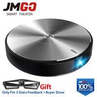 JMGO N7L Full HD Projector, 1920*1080P,2G+16G,700 ANSI Lumens Smart Beamer, WIFI, Bluetooth Speaker.HDMI, USB,Support 4K LED TV
