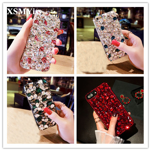 For Samsung S7 S8 S9 S10 PLUS S10E Note 10 Plus 8 9 Luxury Glitter Back Cover Bling Crystal Diamond Rhinestone Soft Phone Case image