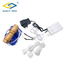 Wasser Leck Detektor Alarm System mit 2 stücke DN15 DN20 DN25 BSP NPT Ventil Wasser Leckage Flut Sensor Ändern Überlauf home Security