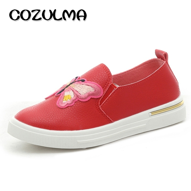 Girls Embroidery Butterfly Fashion Sneakers Summer Autumn Style Shoes 4 Colors