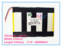 Polymer Lithium Ion Battery 32124154 3 7v 8000mAh With Plug For CH Tablet PC Battery Perfect