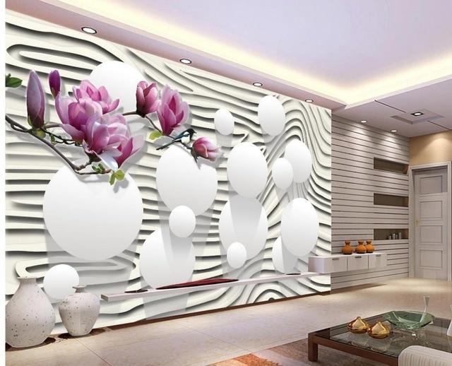Genial Moderne Wohnzimmer Tapeten Lila Magnolia Blumen Tapeten Für Wohnzimmer  Dekoration Weißen Tapete