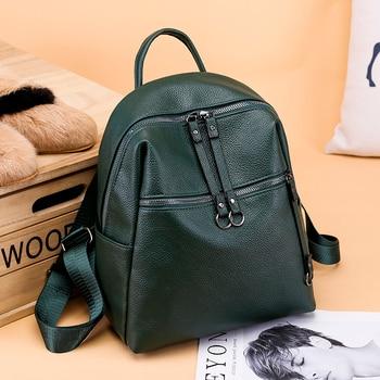 ee02ae58af8d 2018 Fashion Women Backpacks PU Leather Backpack Shoulder Bag ...
