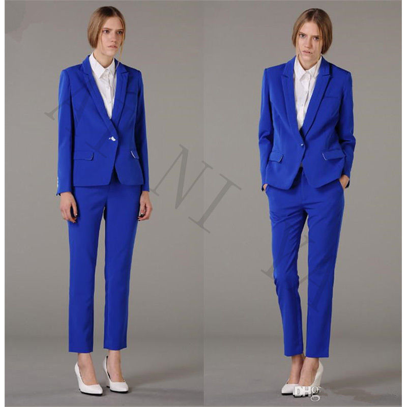 Formal Suit For Wedding Office Uniform Designs Women Business Suits Blazer Custom Made Lady Evening Party Suit Slim Fit 2018 H84