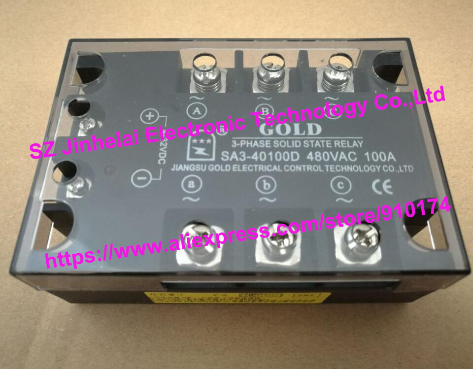 New and original SA340100D SA3-40100D GOLD three-phase Solid state relay 480VAC 100A new and original sa34080d sa3 4080d gold solid state relay ssr 480vac 80a