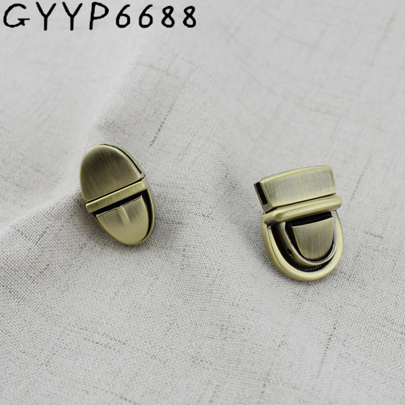 20sets Decorate Small Lock Tuck Locks For Bags FASHION Handbags Hardware Accessories Leather Twist DIY