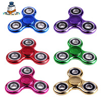 [QuanPaPa]6 Colors Pating Fidget Spinner Stress Wheel hand spinner Stress Wheel Plastic EDC Hand For Autism/ADHD Toys Gift