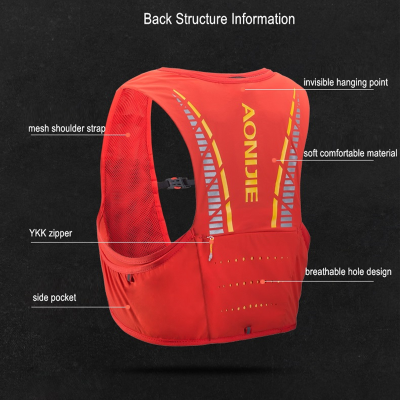AONIJIE C933 5L deporte al aire libre mochila maratón Trail Running hidratación chaleco paquete para 2L bolsa de agua ciclismo bolsa de senderismo - 5