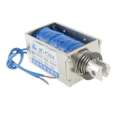 DC 24V/12V Pull Type Open Frame Solenoid Electromagnet Holding Force 55N JF-1264 high quality dc 24v 0 3a pull type open frame solenoid electromagnet 0 8n holding free shipping