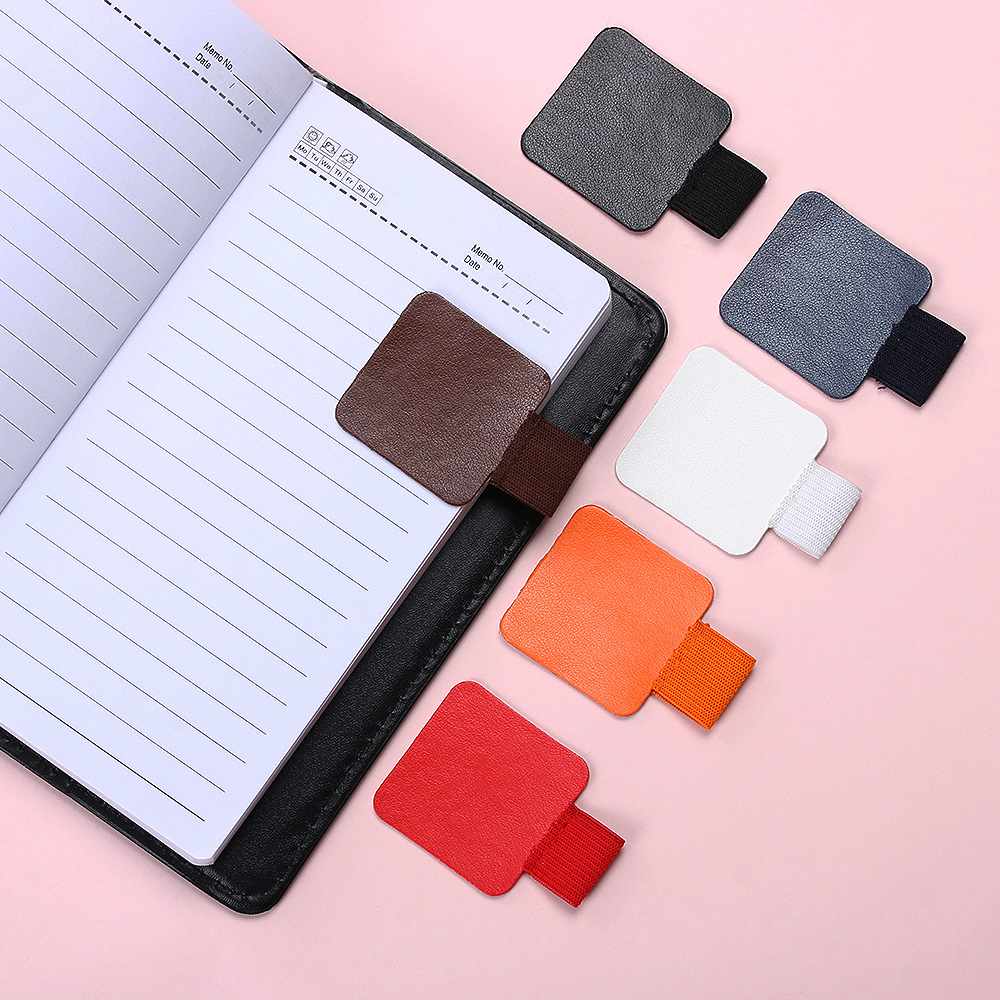 4PCS Self-adhesive Leather Pen Clip Pencil Elastic Loop For Notebooks Journals Clipboards Pen Holder Office Accessories