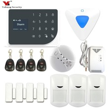 YoBang Security GSM SMS Home Safely Alarm System IOS Android Application Remote Alarm Wireless Gas Smoke Fire Sensor Detector.