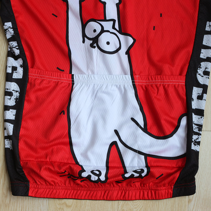 ... Simon s cat Red MEOW Cartoon Cat Mens Cycling Jerseys Short Sleeve MTB  Road Dh Bike Clothes ... 44883d7e9