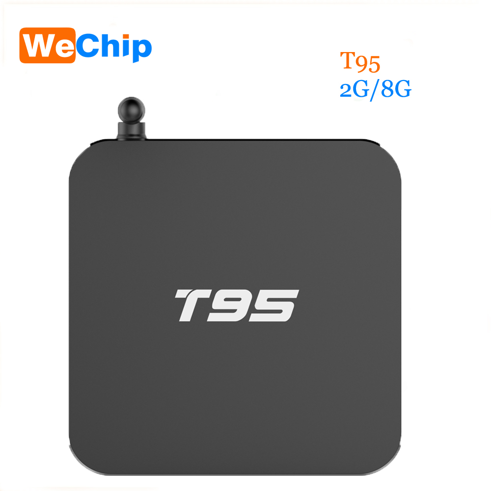T95 Android TV Box Quad Core Amlogic S905 2G RAM 8G ROM Smart TV Box full loaded Airplay APK 4K OTT TV Player Smart Set top Box s905 t9s plus android tv box amlogic quad core 2g 16g 2 4 ghz android 5 1 h 265 hdmi 2 0 miracast dlna smart tv caja
