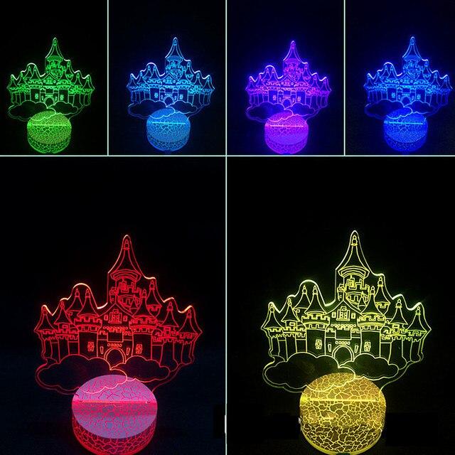 Newst Gradient 3D Night Light Seven-color USB Led Lamp Table Desk Lamp Home Decor Bedroom Reading Nightlight Holiday Lights Gift