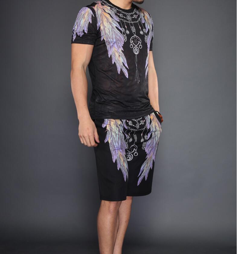 Fitness survêtement été costume hommes 2018 nouveau design homme ensemble - 6