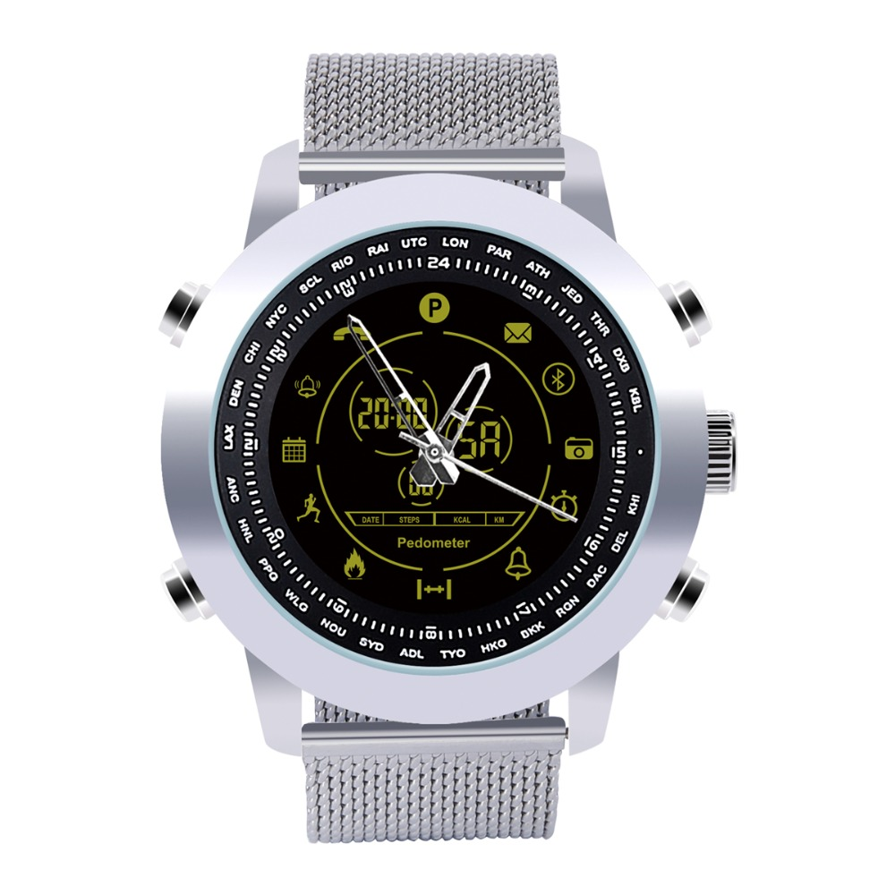 Smart Watch Men With BT Call/ SMS /Twitter/ Facebook/ Whatsapp/ Skype Reminder Sports Steps Counting Watch Waterproof