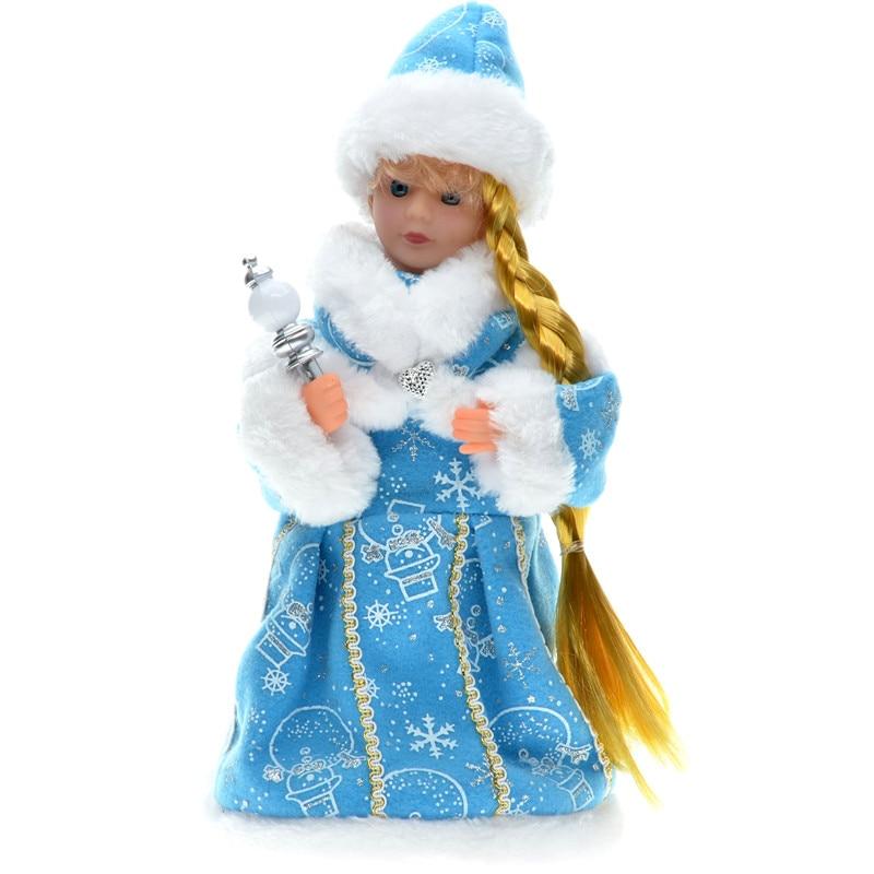 30cm novoletni okraski božični električni dedek Mraz glasbeni - Dekor za dom - Fotografija 2