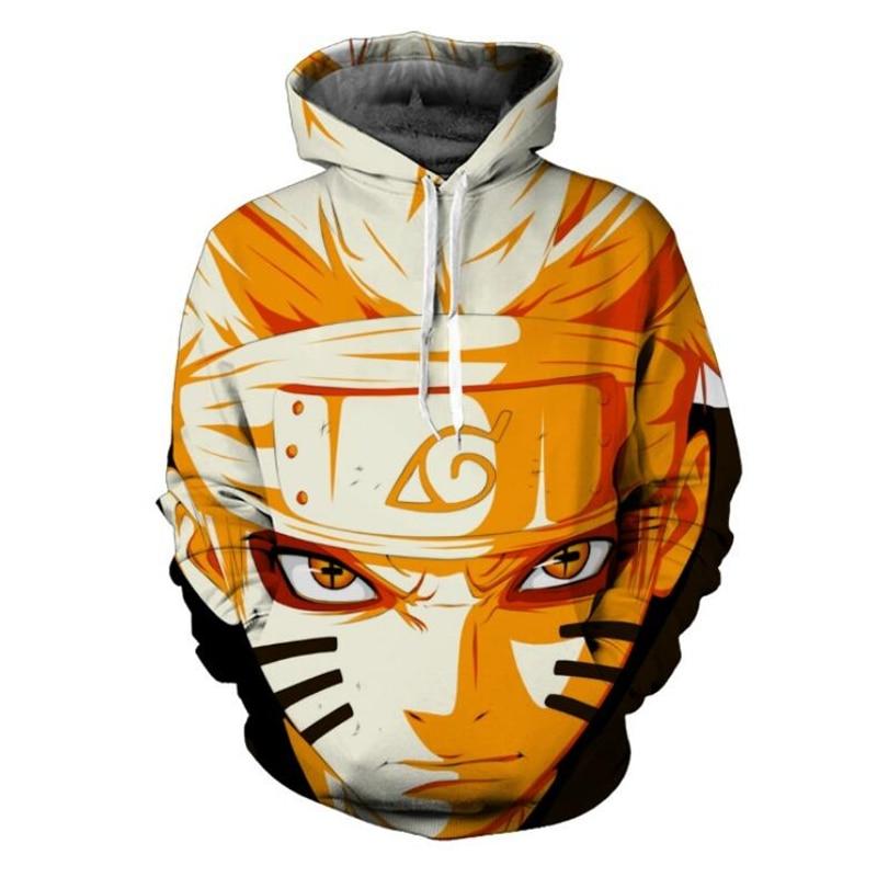 Cizgi film personajları Uzumaki Naruto / Sasuke 3d Anime Hoodie Qırmızı Kişi Kişi Uzun Qoll Qollu Geyimi Təsadüfi Pullovers Gödəkçəsi