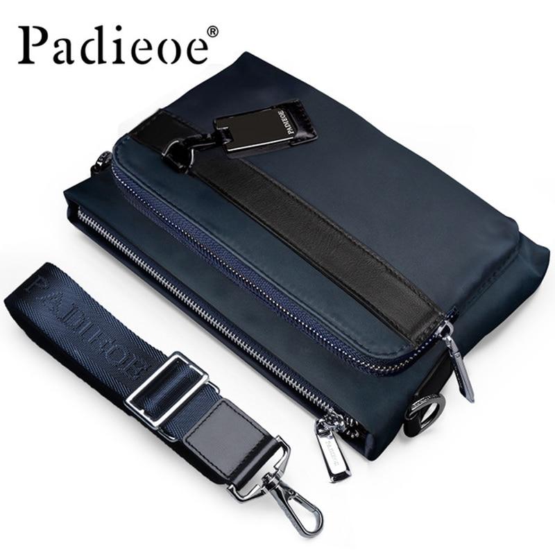 Padieoe Luxury Designer Men Handbag High Quality Nylon Men's Messenger Bags Crossbody Bag High Quality Durable Men Shoulder Bags цена