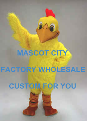 Red Crest Yellow Doodle Doo Mascot Costume Mascotte Outfit Suit Fancy Dress for Stage Performance Party Carnival SW624