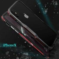 Luphie Bicolor Aluminum Metal Phone Bumper Case For IphoneX Phone Frame Case For Iphone X 5